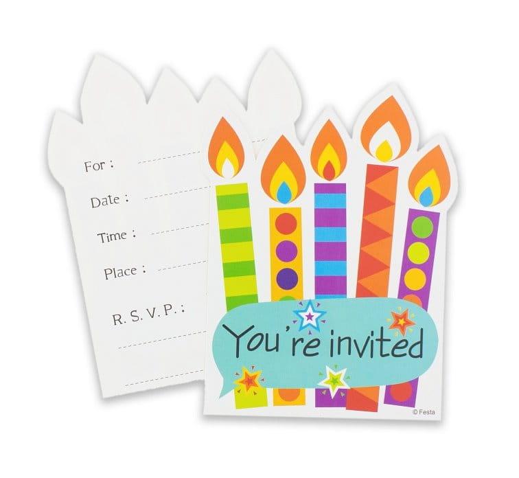 Zaproszenia Urodzinowe świeczki 6 Szt Party World