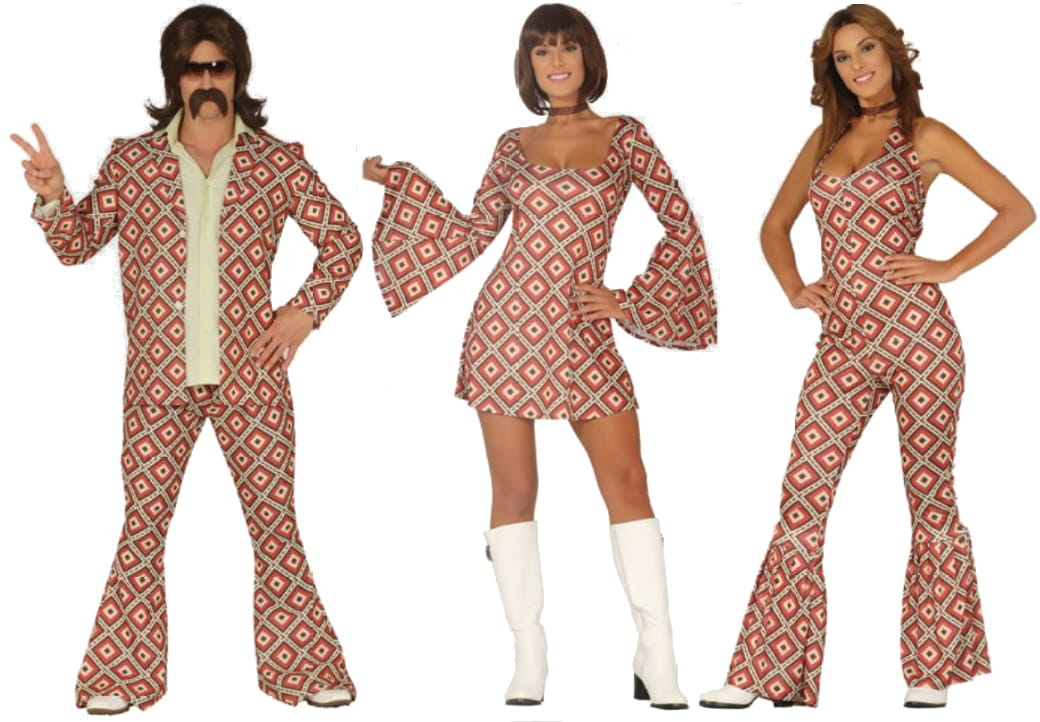 0c4b8db03a Strój na karnawał dla kobiety Szalone Lata 70-te - sukienka - Party ...