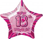 "Balon foliowy 20"" na 18 urodziny ""Happy 18th Birthday"""