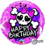 "Balon foliowy ""Happy Birthday Rockowe Piratki"" 18"""