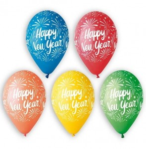 "Balon Premium 12"" z nadrukiem Happy New Year"