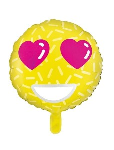 Balon foliowy Emotikon - Love