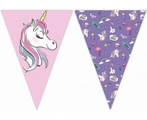 "Baner z flag ""Minnie and Unicorn"""
