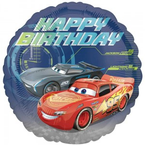 Balon foliowy Cars - Happy Birthday