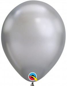 "Balon 11"" srebrny, chrom"