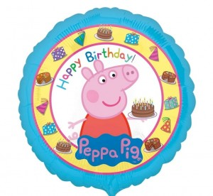Balon foliowy Peppa Pig, Happy Birthday