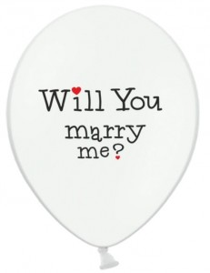"Balon 14"" z nadrukiem ""Will You marry me?"""