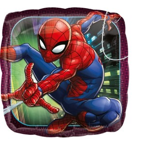 Balon foliowy Spiderman Animated, kwadratowy