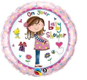 "Balon foliowy ""On Your Baby Shower"" 18"""