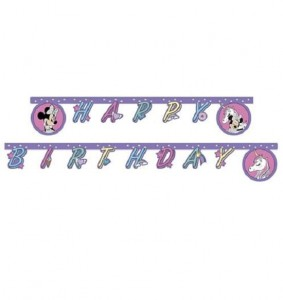 "Baner urodzinowy ""Minnie and Unicorn"""