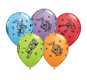 "Balon QL 11"" Ninja Turtles, pastel mix"