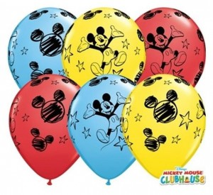 "Balon 11"" z nadrukiem Mickey Mouse"