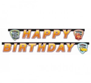 Baner urodzinowy Cars 3 - Happy Birthday